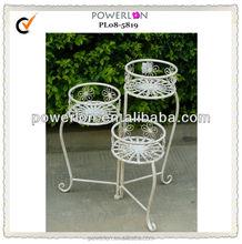 POWERLON Elegant metal garden decoration flower plant stand anti rust finishing outdoor furniture