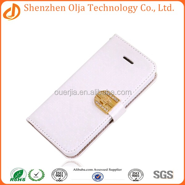Wholesale manufacture leather flip case cover for apple iphone 6,leather belt clip flip wallet case for iphone 6