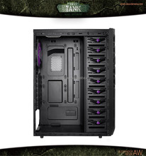 OEM Gaming desktops gaming pc case with USB3.0 / all black / iron mesh dust gaming computer case TANK 8