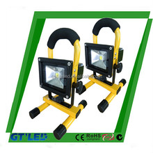 Hot sales led flood light professional 10w rechargeable led daylight 20w ip65 dimmable led flashlight rechargeable
