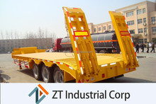 China high quality twin axle trailer Low Flat Bed 30ton dimensions
