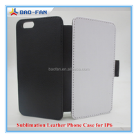 2014New Arrival Blank Sublimation leather phone case for IP6 Top Quality Sblimation Cell Phone Case