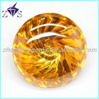 Round Cone Shape Cubic Zirconia Beads
