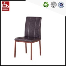 High back wooden modern luxury black leather dining chair