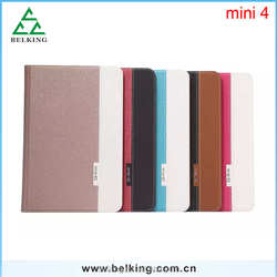 For ipad Mini 4 Cross Pattern Leather Case With Contrast Color Drop Resistance Case For iPad Mini 4