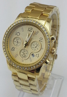 2015 Fashion Quartz wrist watch gold Watch with calendar Famous Brand diamond rose gold watch