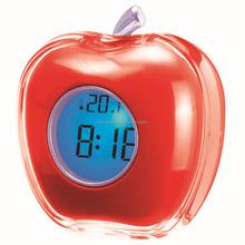 Hairong apple shape desktop led clock manufacturer desktop mini clock