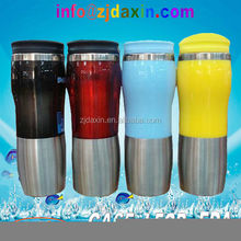 Promotional thermos stainless steel mug colored in travel