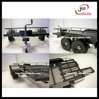 RC Rock Crawler small Car Hauler Dual Axle Trailer for 1/8 vehicles #JAK-D292