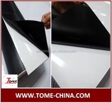 3D Auto protection carbon fiber wrap black color in Guangzhou