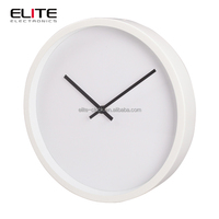 chinese factory home decoration stylish modern electronic custom metal wall clock