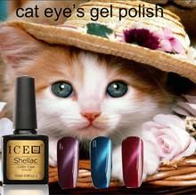 2015 NEW Arrival OEM Fashionable color 36 colors Soak off 10 ml UV LED Gel Polish cat eyes gel nail polish