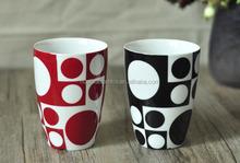 Durable pocelain printed double wall coffee mug, beer mug, latte mug 10ounce