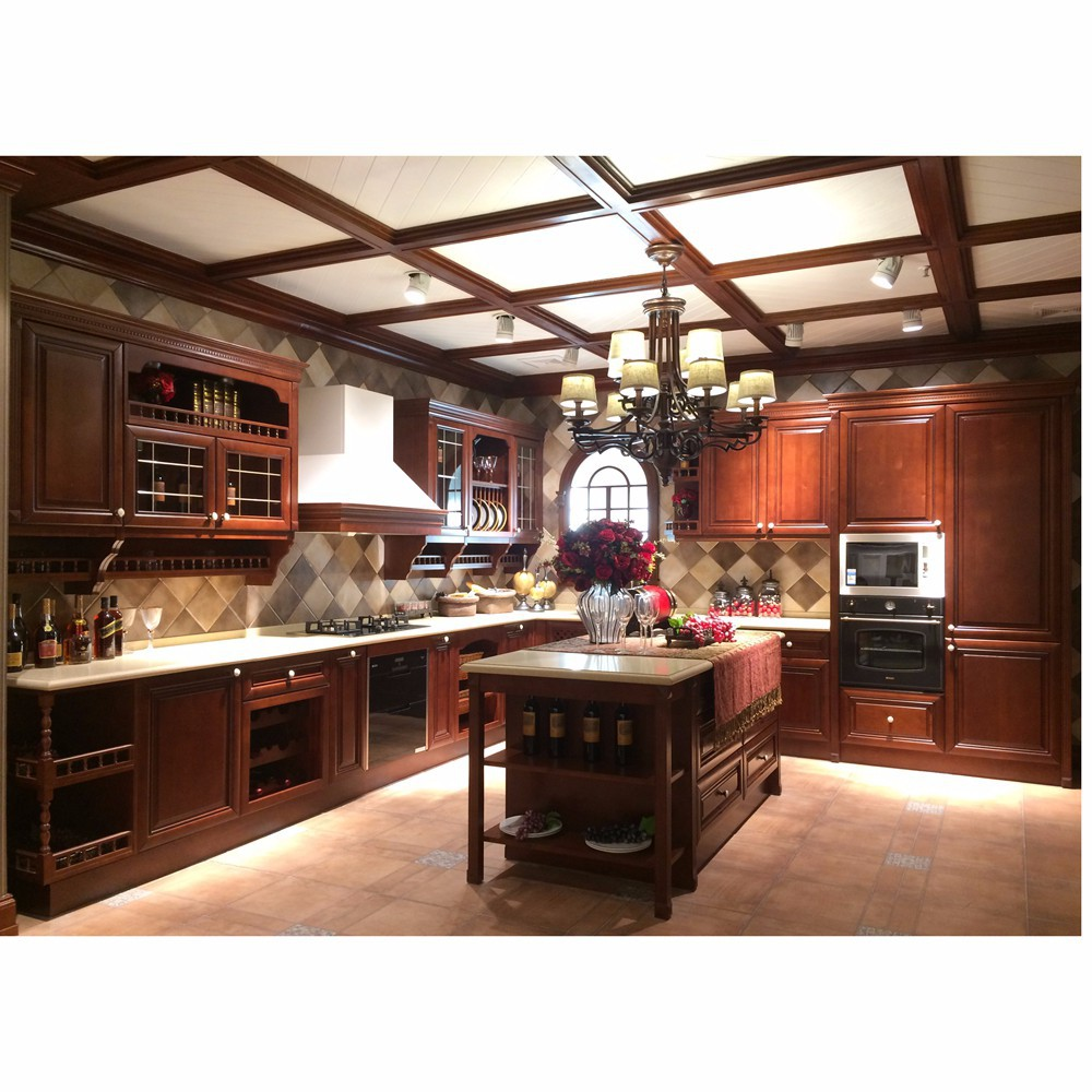 Solid wood modular kitchen designs buy kitchen designs for Wooden modular kitchen designs