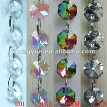 Mixed Color Chandelier Decorative Crystal Octagon Beads For Wedding