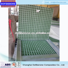 15mm to 63mm Made in china environmental protection material firm square fiberglass frp manhole cover