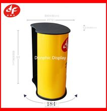 Curved Promotion Pop Up Promotion Counter with wooden top
