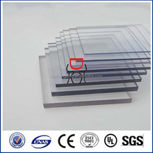 solid lexan polycarbonate roofing sheet 1mm pc single wall panel