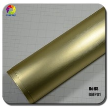 TSAUTOP 2015 New Arrival 1.52*20m Brass brushed matte chrome vinyl car wrap with air free bubbles