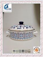 hot sale new design enamel casserole soup pots with decal carbon steel cooking pot for wholesale