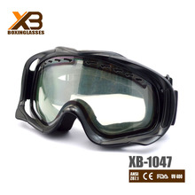 Top selling black unisex snow goggles