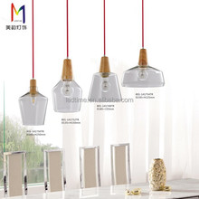 Classical industrial style clear glass pendant lamp for restaurant