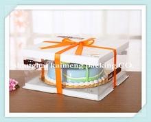China OEM Customize food grade plastic 12inch cake box packaging