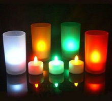 wedding rose wax led candle home decoration led candle light without flame