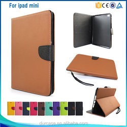 High quality Korea PU leather wallet flip case for ipad mini 4 with stand function
