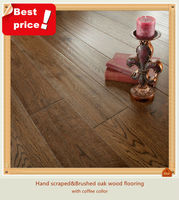 hand scrap and brushed solid oak wood flooring