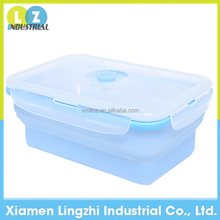 2015 new arrival high quality collapsible silicone storage box food container