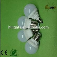2014 New brightness G45 ceramic 3 watt led bulb