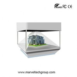 Full HD 3D Holographic showcase display solar power advertising display