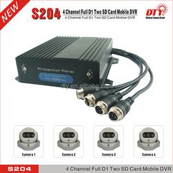 S204-3GW 3g wifi gps 4 camera car dvr kit mobile digital video recorder