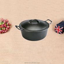 non stick matt black casserole fire pot outdoor