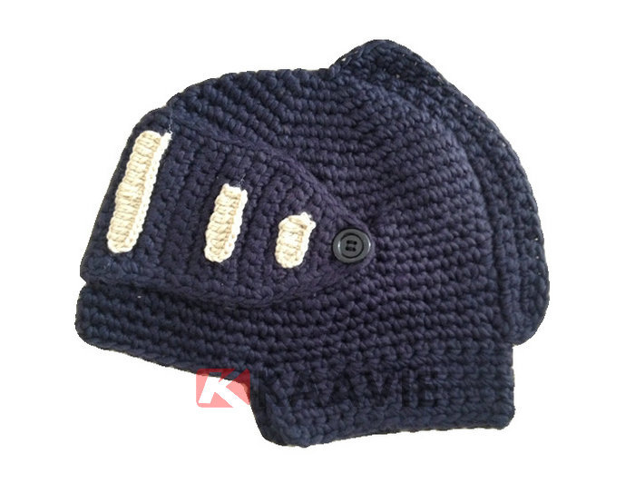 Knight Helmet Hat Free Knitted Pattern - Buy Crochet Pattern Knight Helmet Ha...