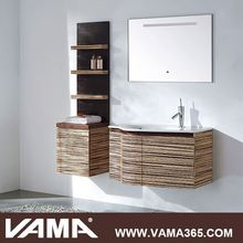 VAMA Country Style Floor Standing Led Lighted Bathroom Wall Mirror