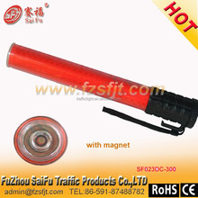 Security traffic signal flashing and high reflective red LED baton or wand w/ Magnet