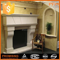 PFM - Luxury natural pure hand carved electric fireplace heater lowes