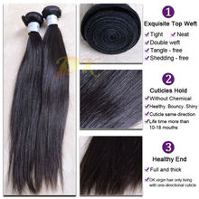 Wholesale Double weft 7A High Quality Virgin Natural Straight Malaysian Hair Piece