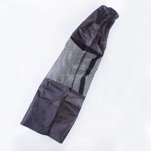 Portable Yoga Mat Bag Nylon Carrier Mesh - Black
