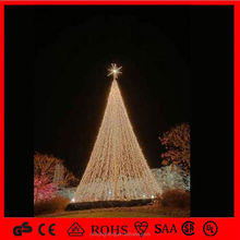 Hot Selling outdoor Christmas trees, hang beads LED lights decorating Christmas Tree