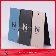 Sinicline factory crazy price summer clothing foldable hang tags wholesale