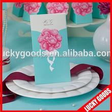 2015 hot sale paper unique wedding invitation cards