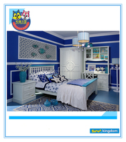 Noble Royal Style White King Single Bed For Bedroom furniture sets