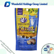 2015 custom printing packaging for pet food dog food / ziplock stand up pouch dog food packaging bag