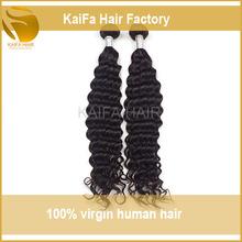 High quality no tangle full cuticle vigin peruvian hair weaving