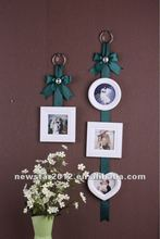 FU-13522 wooden embossed picture frame with ribbon
