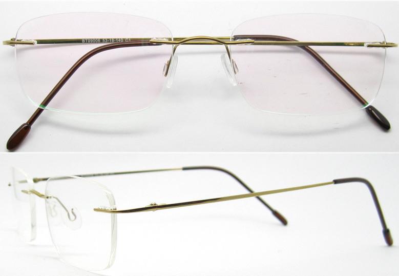Rimless Eyeglass Frames 2015 : Wholesale 2015 hotsell fake designertitan eyeglass frame ...