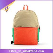 New Arrival Simple Style Stylish Personalize Contrast Color School Bag